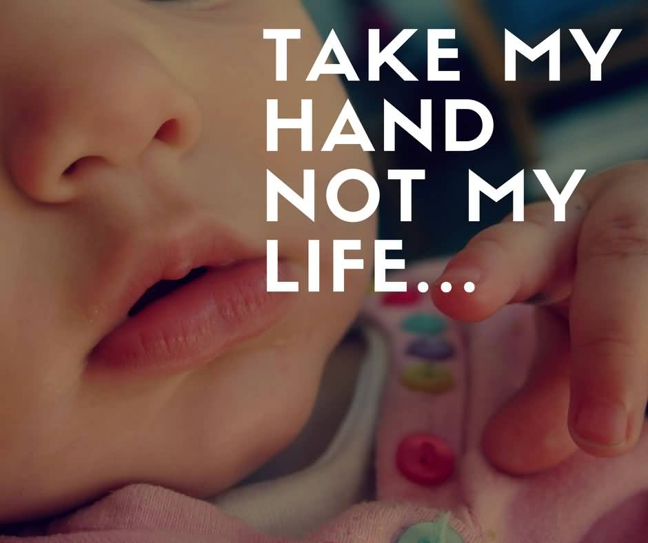 Take My Hand Not My Life Abortion Quotes