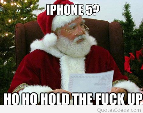 IPhone 5 Ho Ho Santa Claus Quotes