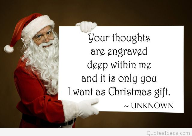 Santa Claus Quotes Your Thoughts Are Engraved