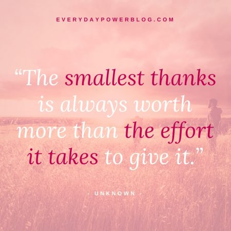 The Smallest Thanks Is Appreciation Quotes
