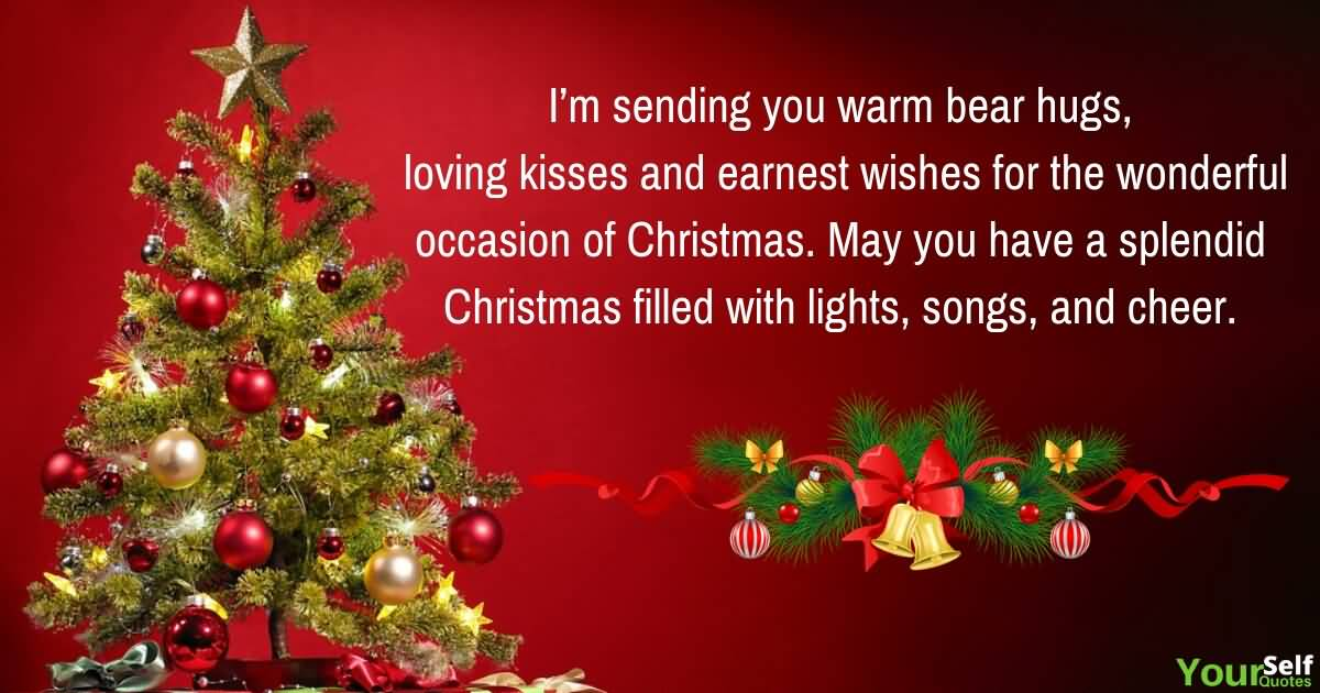 Beautiful Wishes With Christmas Tree