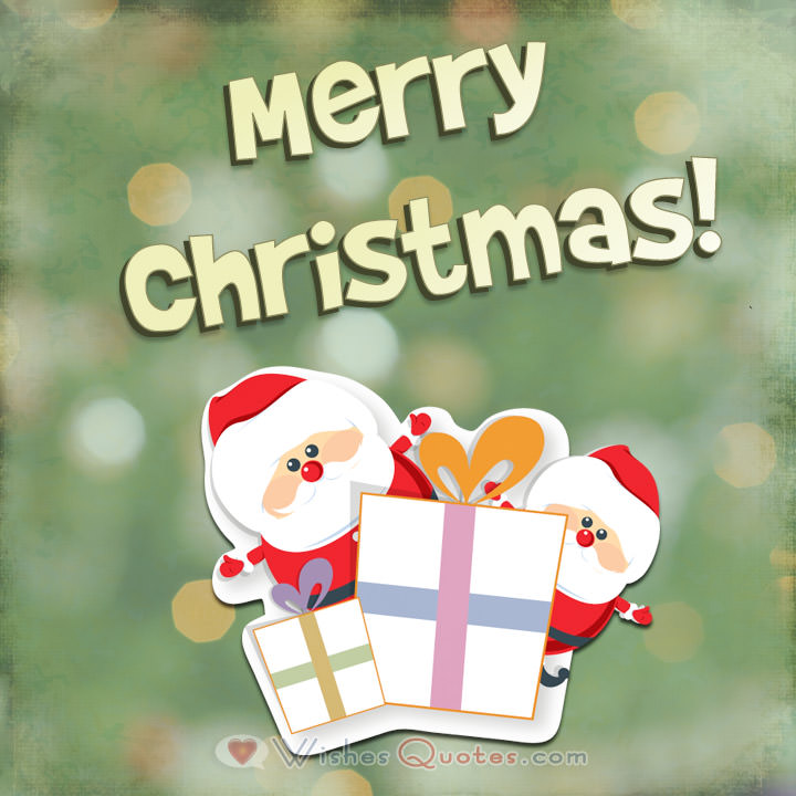Cute Christmas Greeting Photo