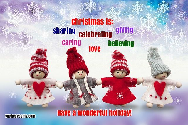 Cute Dolls Wishes Merry Christmas