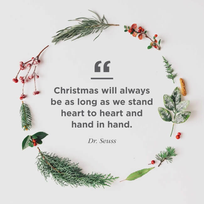 Famous Christmas Quote With Wish