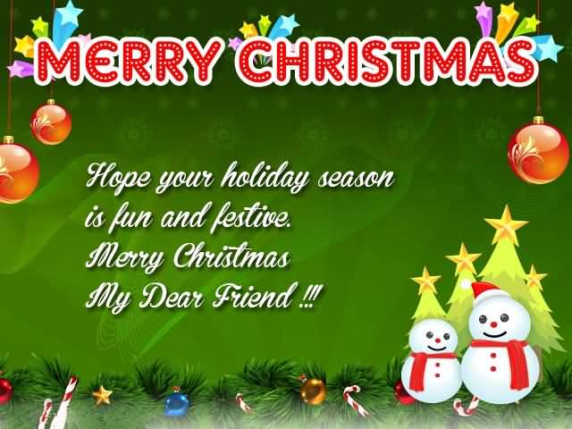 Lovely Christmas Wish For Dear Friend