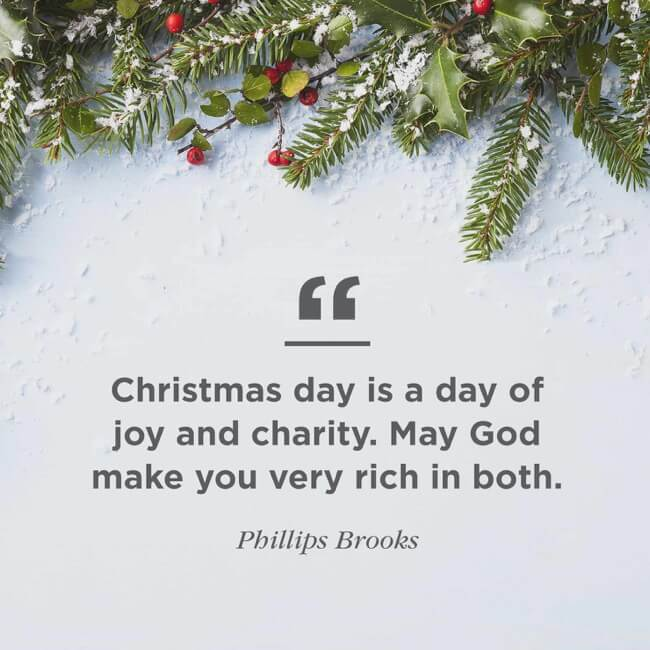 Short Christmas Day Quote Image