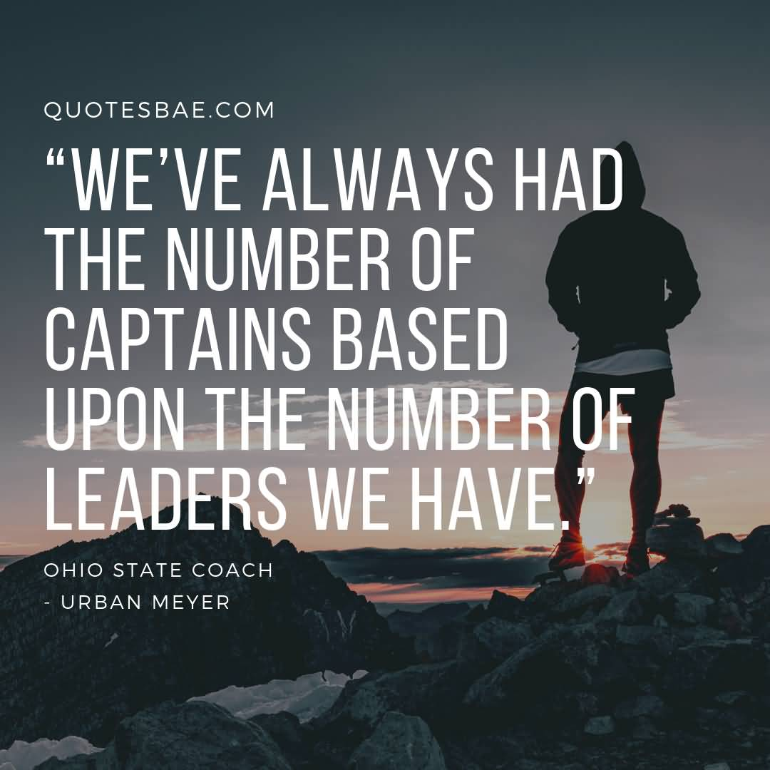 Urban Meyer Quotes On Leadership 1
