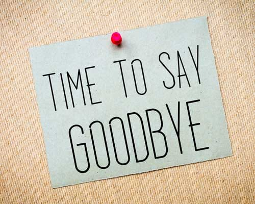 Time To Say Goodbye Good Bye Quotes