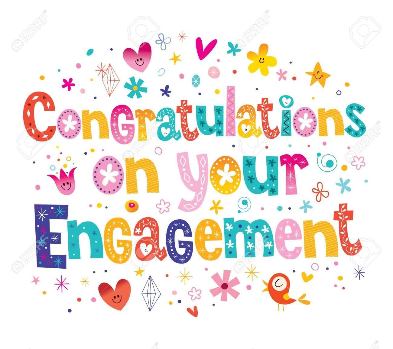 Beautiful Engagement Wishing Card Congratulations Engagement