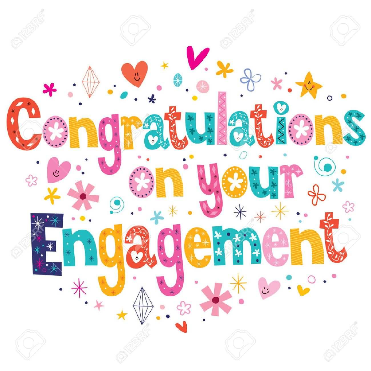 Lovely Card For Engagement Congratulations Congratulations Engagement