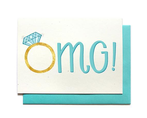 Nice Engagement Congrats Card Congratulations Engagement